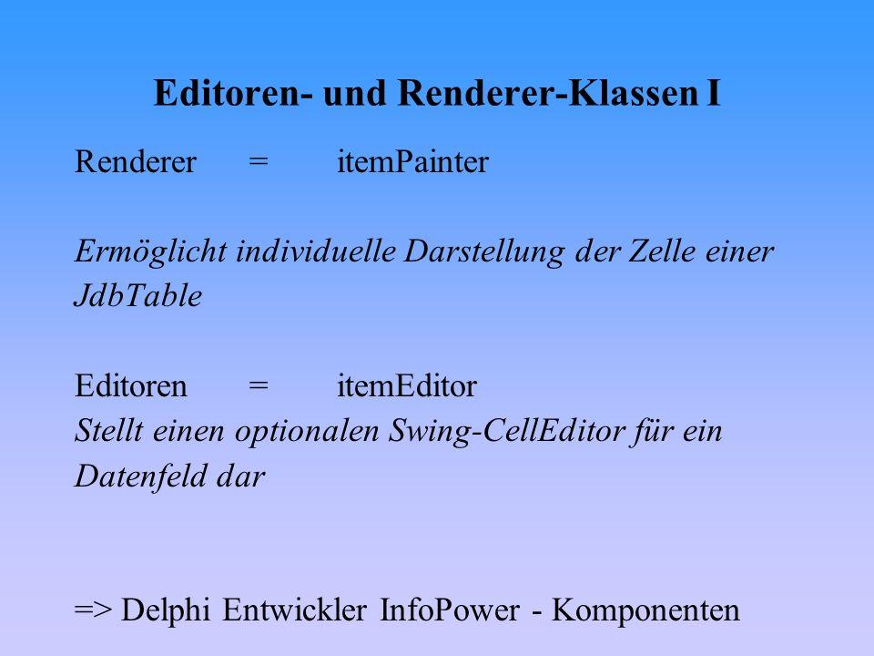 Editoren- und Renderer-Klassen I