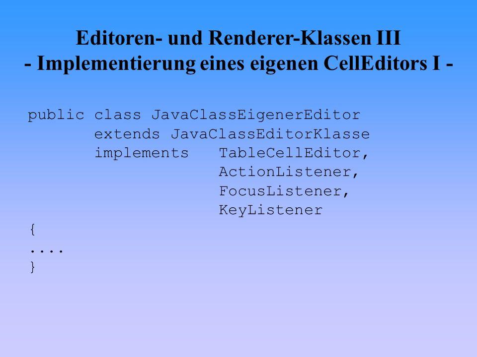 Editoren- und Renderer-Klassen III - Implementierung eines eigenen CellEditors I -