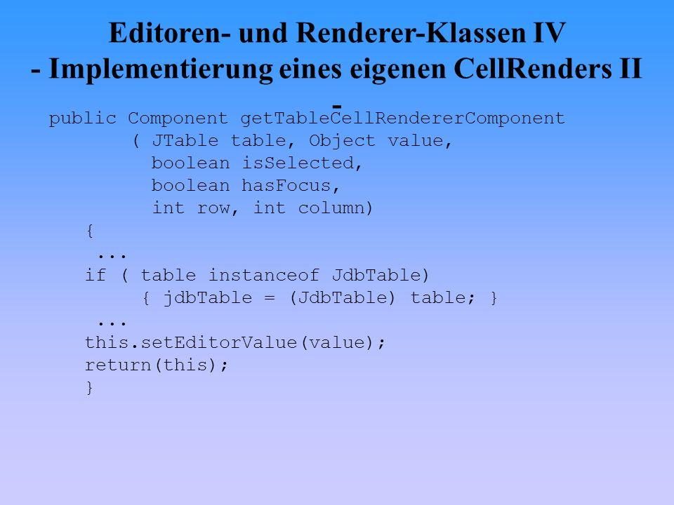 Editoren- und Renderer-Klassen IV - Implementierung eines eigenen CellRenders II -