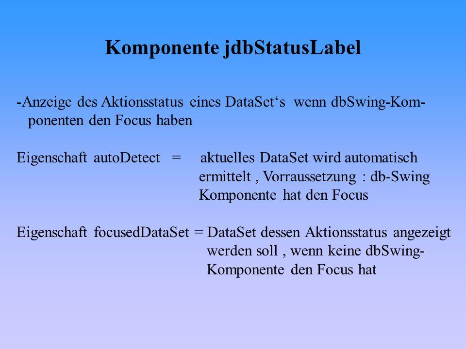 Komponente jdbStatusLabel