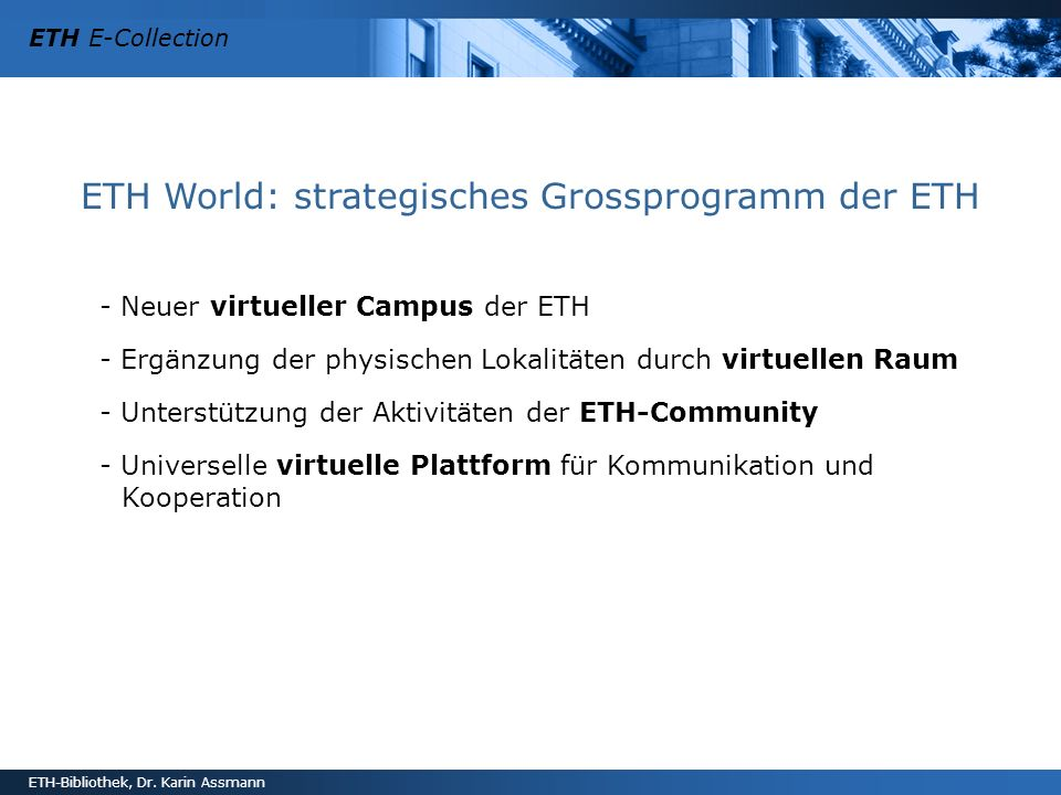 ETH World: strategisches Grossprogramm der ETH