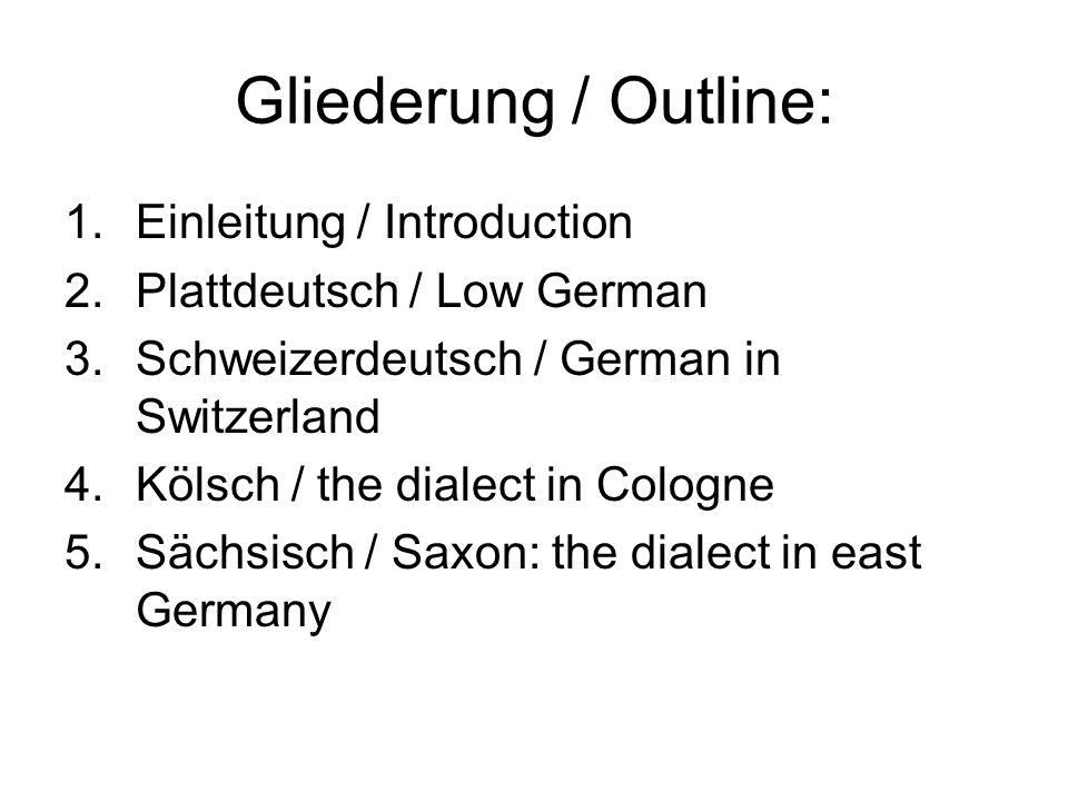 Gliederung / Outline: Einleitung / Introduction