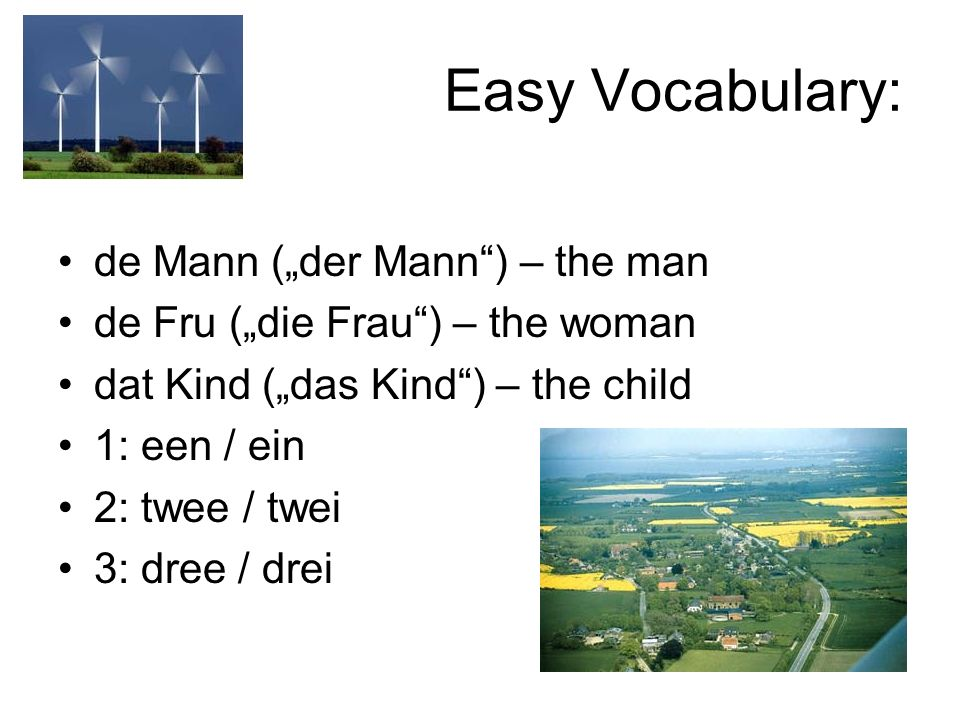 "Easy Vocabulary: de Mann (""der Mann ) – the man"