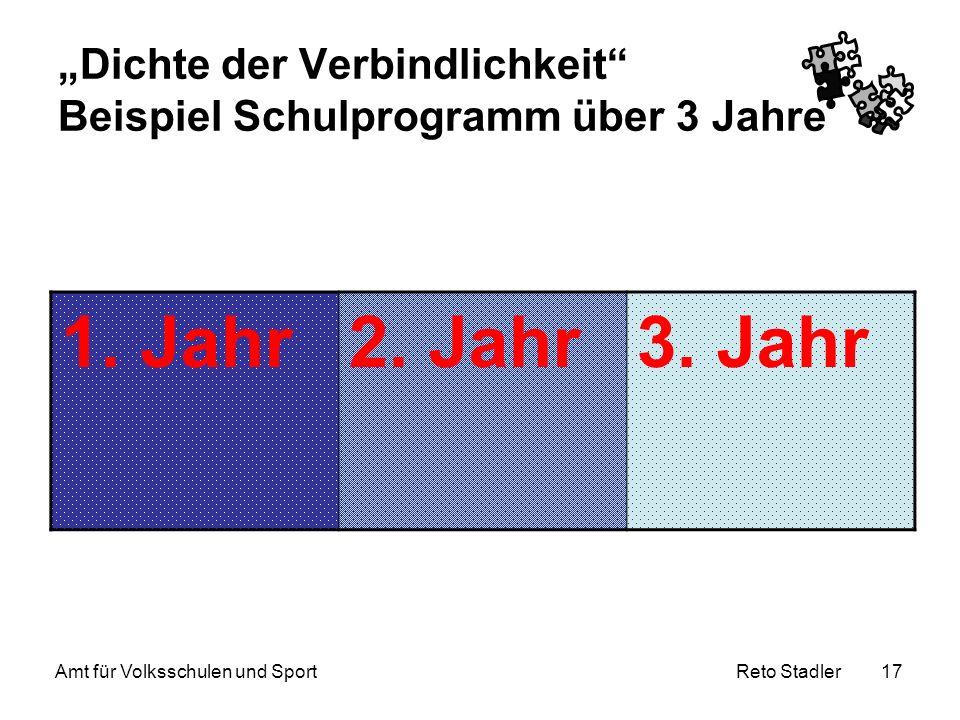 """""""Dichte der Verbindlichkeit Beispiel Schulprogramm über 3 Jahre"""