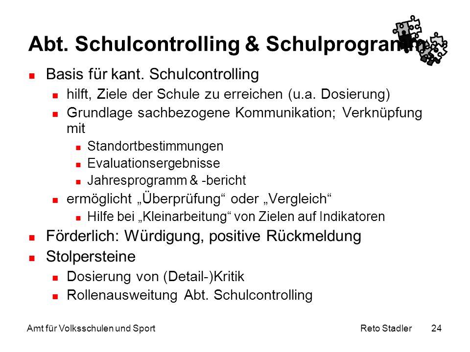 Abt. Schulcontrolling & Schulprogramm
