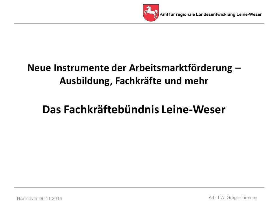 Das Fachkräftebündnis Leine-Weser