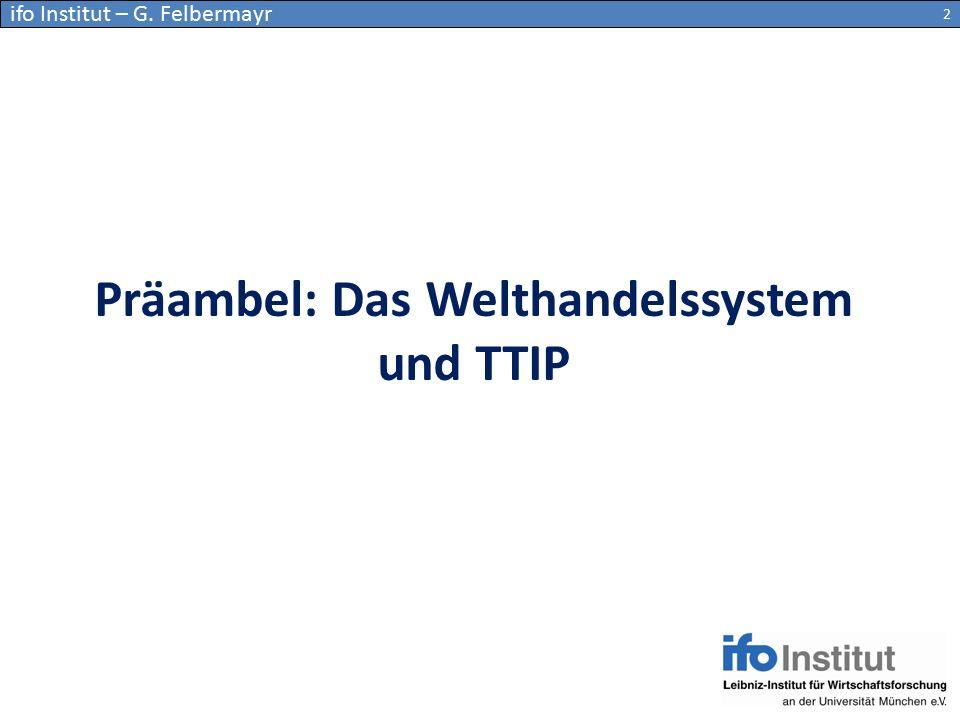 Präambel: Das Welthandelssystem und TTIP