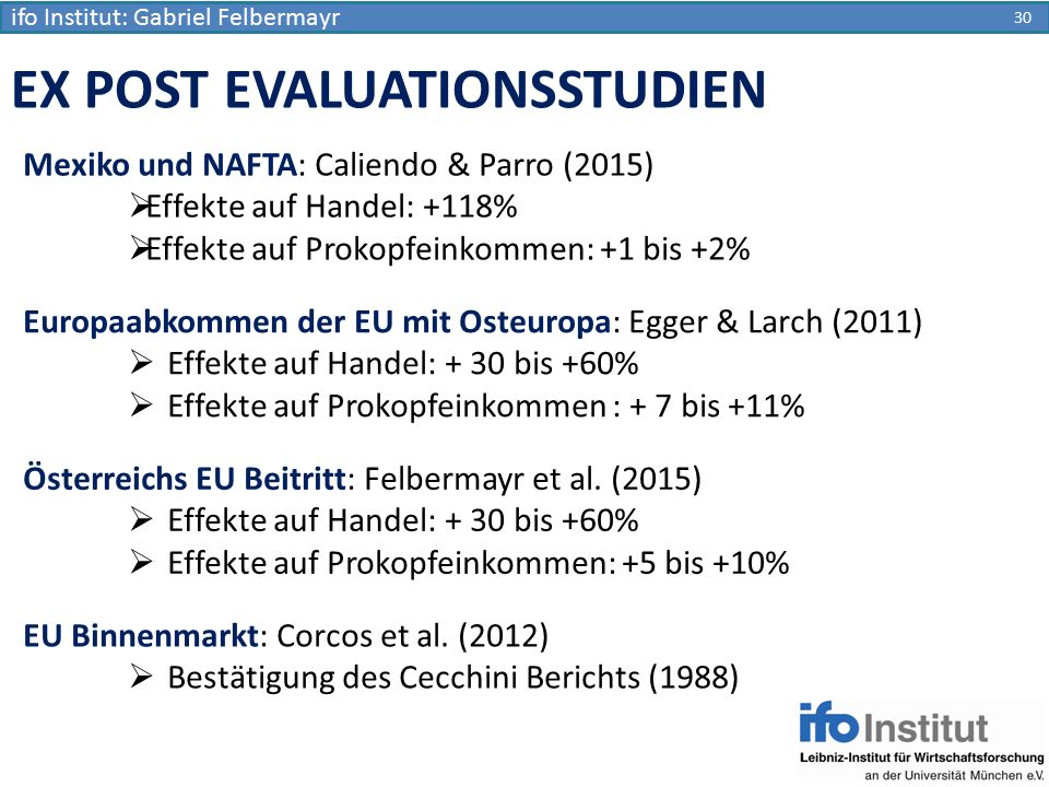 EX POST EVALUATIONSSTUDIEN