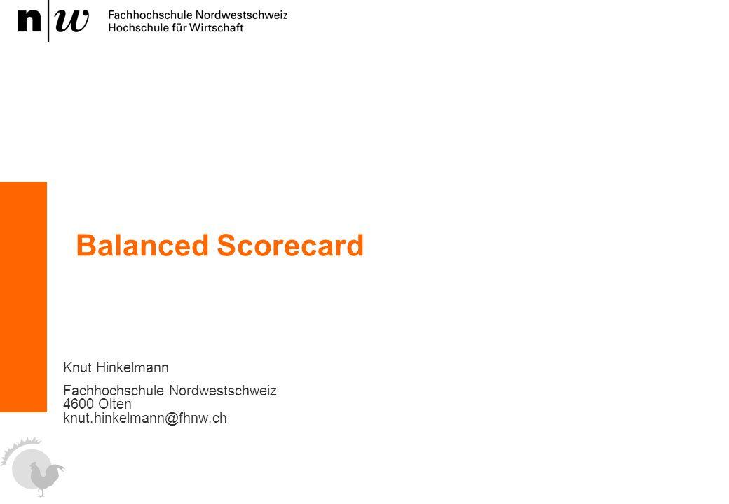 Balanced Scorecard Knut Hinkelmann