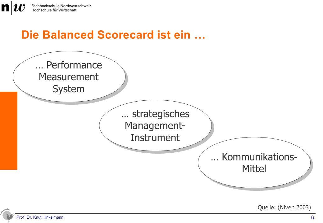 Die Balanced Scorecard ist ein …