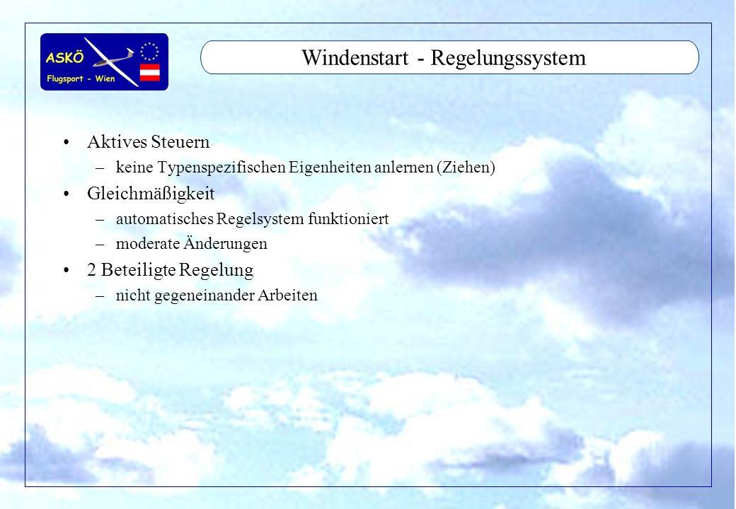 Windenstart - Regelungssystem