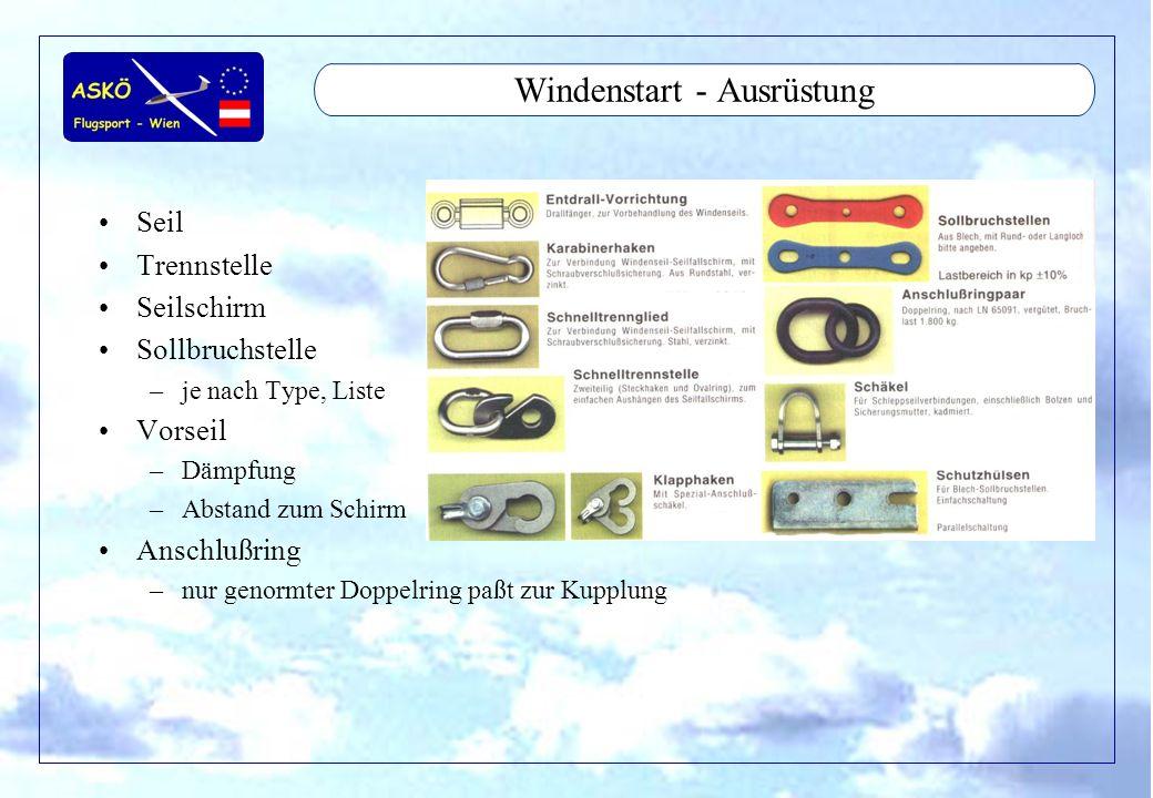 Windenstart - Ausrüstung
