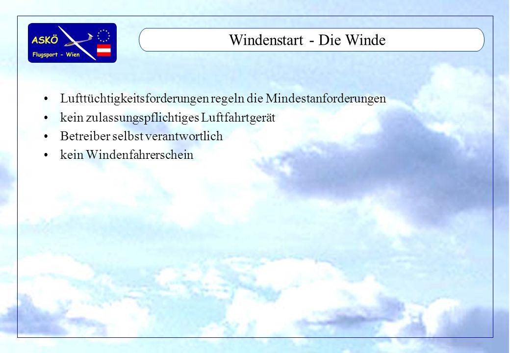 Windenstart - Die Winde