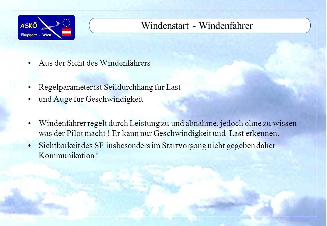 Windenstart - Windenfahrer