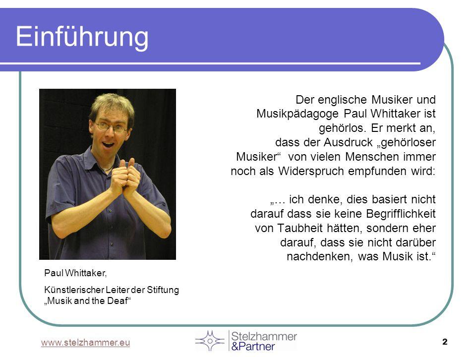 Einführung Der englische Musiker und Musikpädagoge Paul Whittaker ist