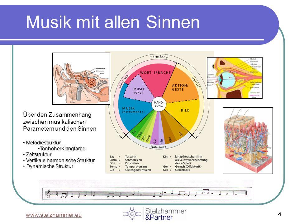 Musik mit allen Sinnen Über den Zusammenhang zwischen musikalischen Parametern und den Sinnen. Melodiestruktur.