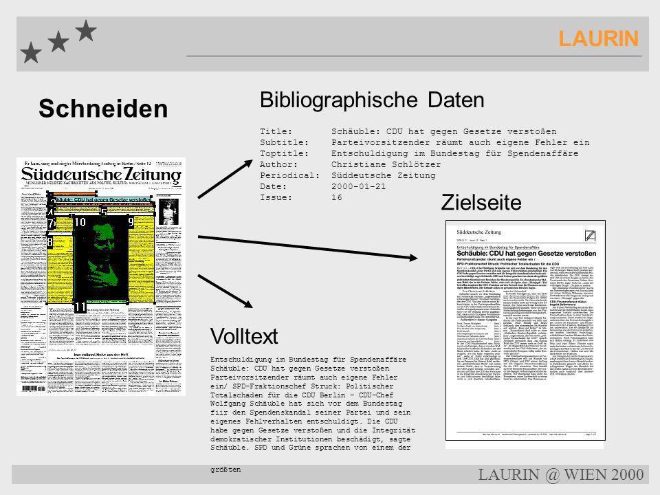 Schneiden LAURIN Bibliographische Daten Zielseite Volltext