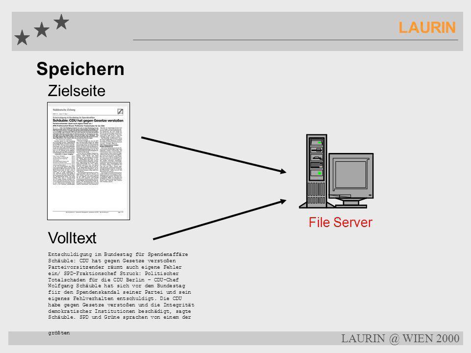 Speichern LAURIN Zielseite Volltext File Server LAURIN @ WIEN 2000