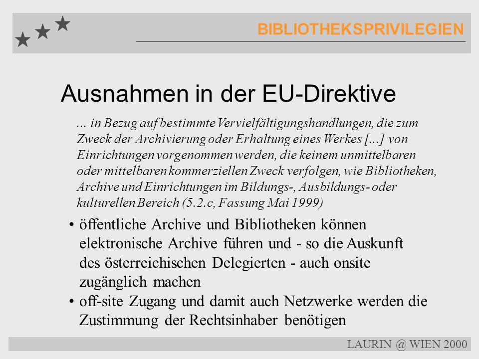 Ausnahmen in der EU-Direktive