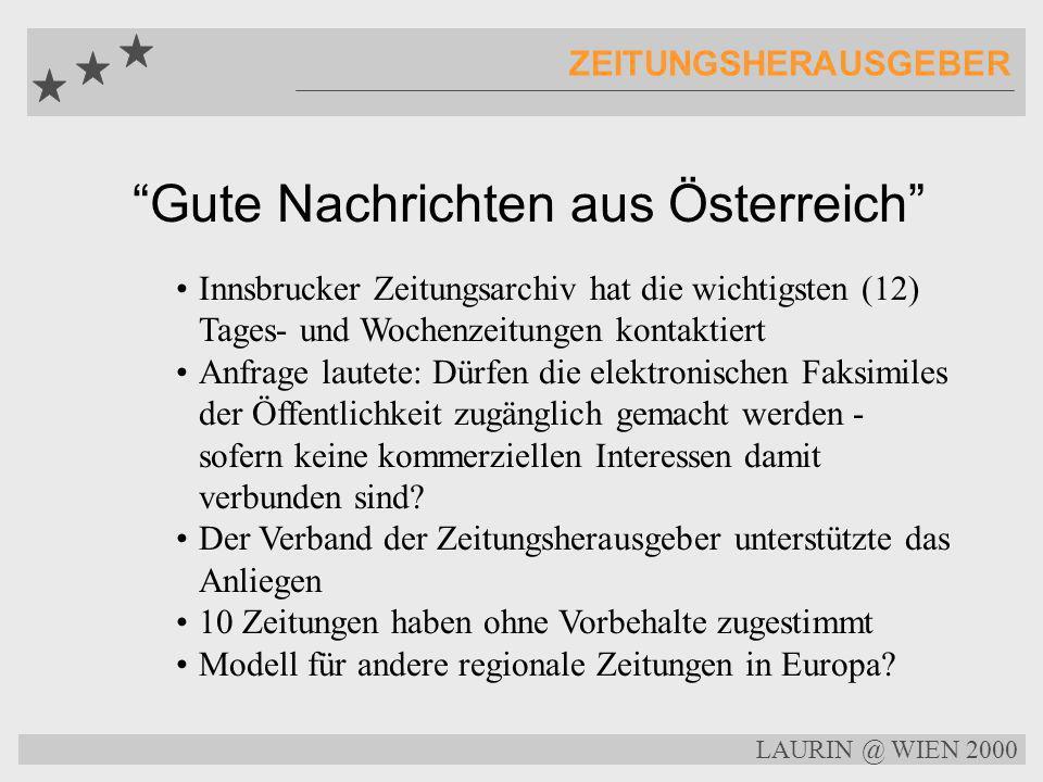 Gute Nachrichten aus Österreich