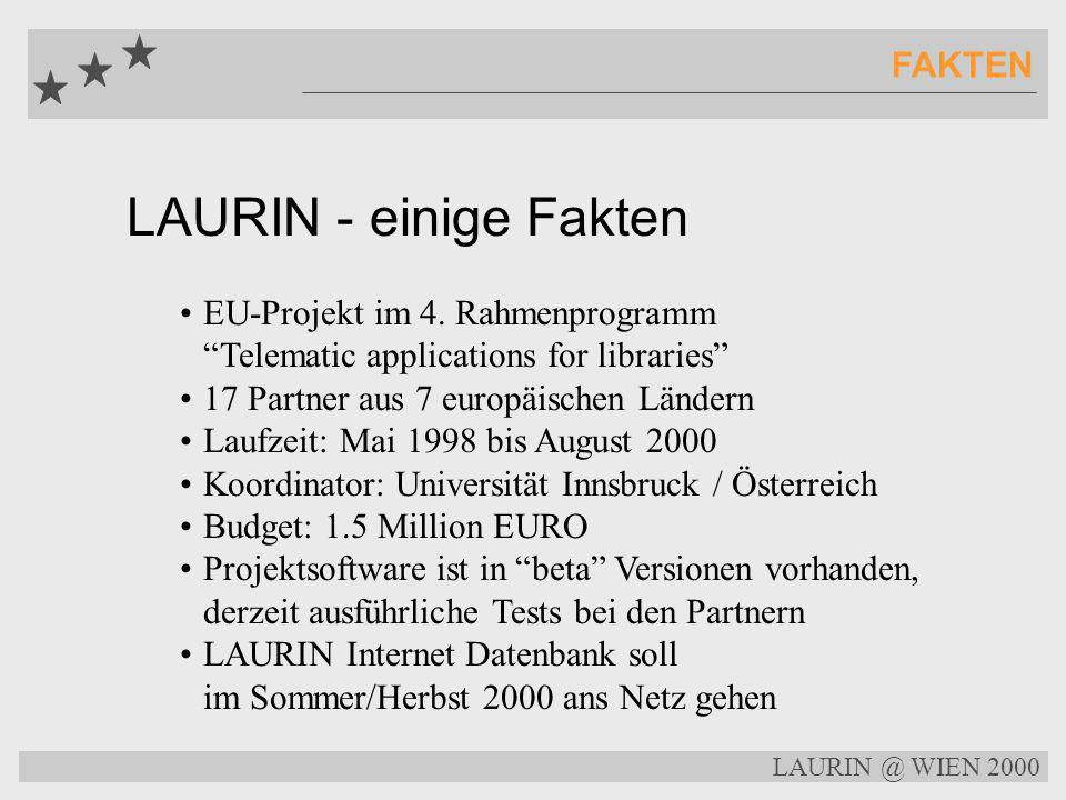 LAURIN - einige Fakten FAKTEN