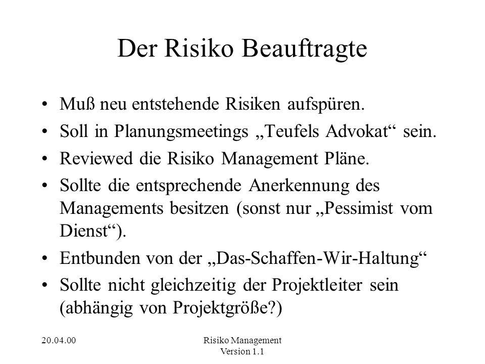 Der Risiko Beauftragte