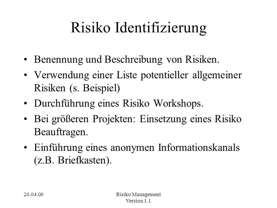 Risiko Identifizierung