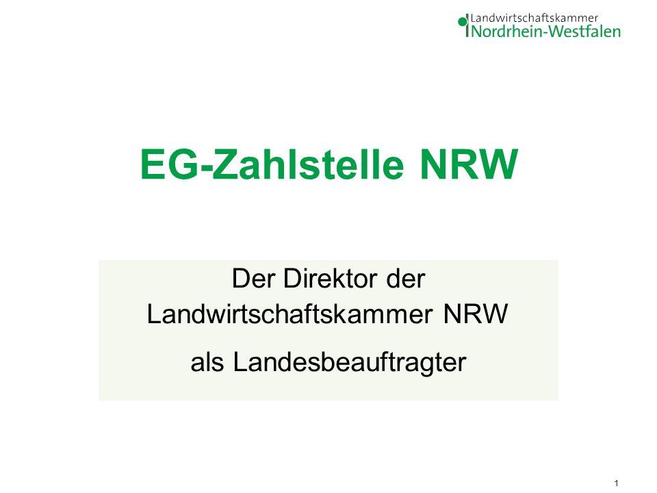 Der Direktor der Landwirtschaftskammer NRW als Landesbeauftragter