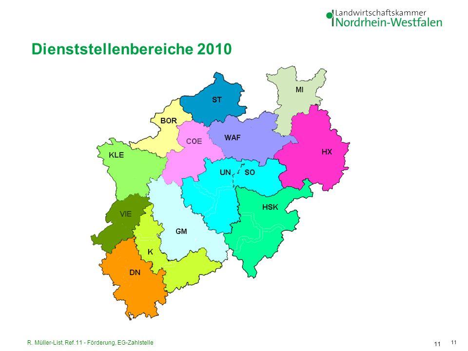 Dienststellenbereiche 2010
