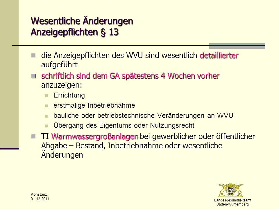 Wesentliche Änderungen Anzeigepflichten § 13