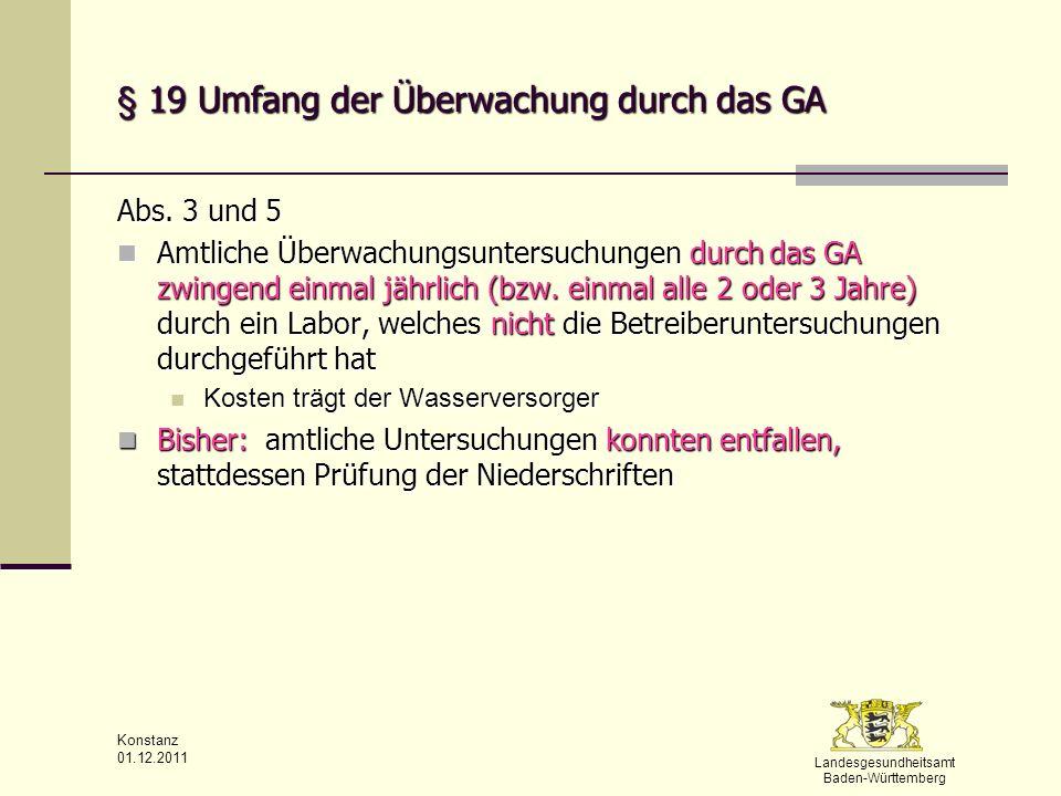 § 19 Umfang der Überwachung durch das GA