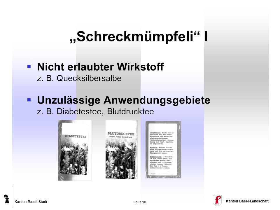 """""""Schreckmümpfeli I Nicht erlaubter Wirkstoff z. B. Quecksilbersalbe"""