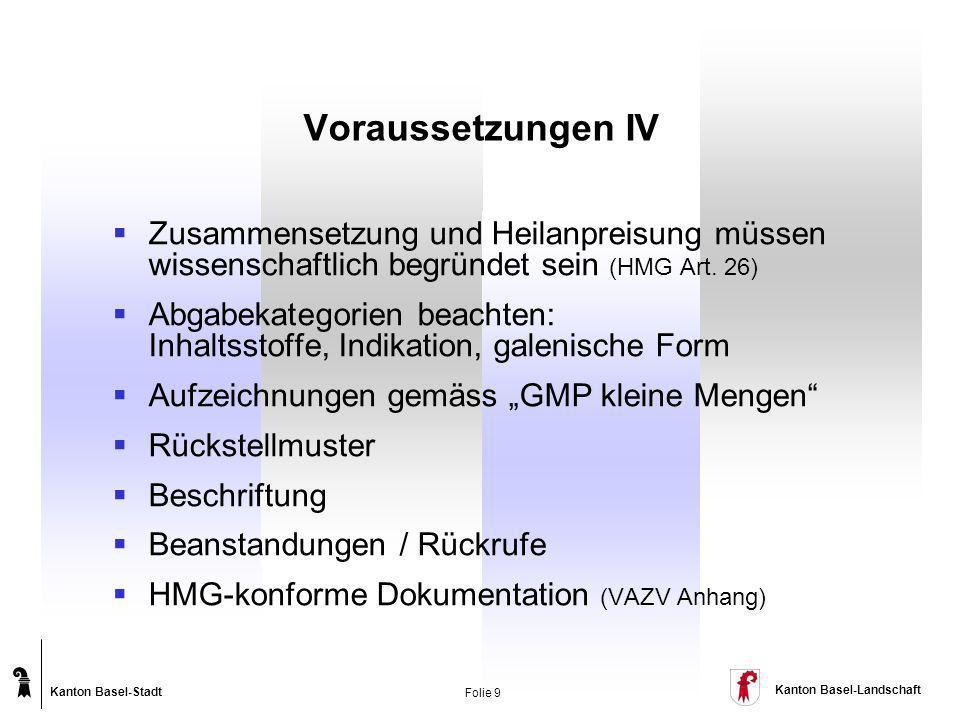 Voraussetzungen IV Zusammensetzung und Heilanpreisung müssen wissenschaftlich begründet sein (HMG Art. 26)