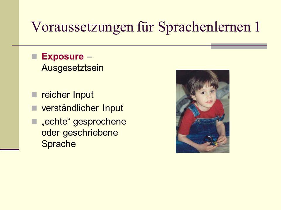 Voraussetzungen für Sprachenlernen 1
