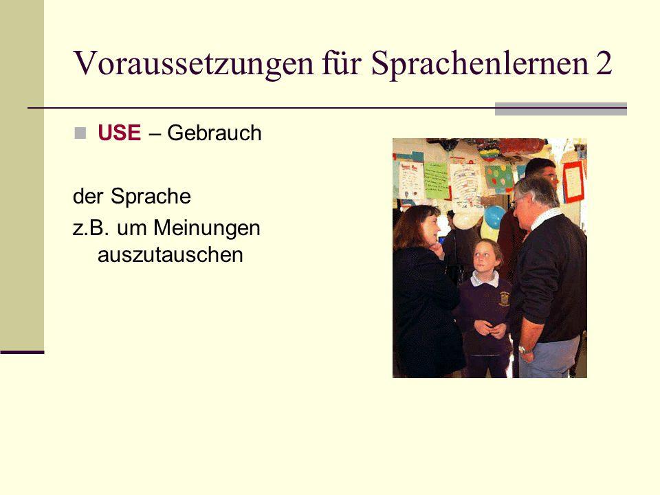 Voraussetzungen für Sprachenlernen 2