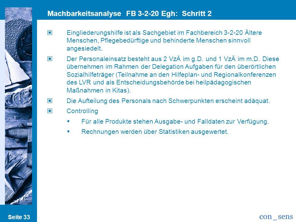 Machbarkeitsanalyse FB 3-2-20 Egh: Schritt 2 Prozesse/Strukturen