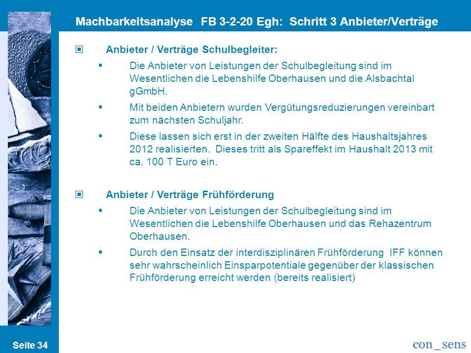 Machbarkeitsanalyse FB 3-2-20 Egh: Schritt 3 Anbieter/Verträge