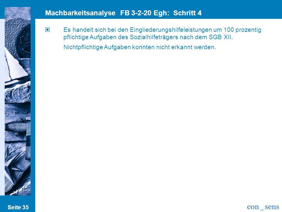Machbarkeitsanalyse FB 3-2-20 Egh: Schritt 4 Pflicht/Nichtpflichtig