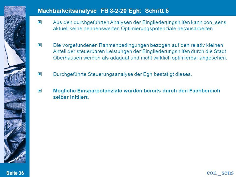 Machbarkeitsanalyse FB 3-2-20 Egh: Schritt 5 Einspar/Optimierungsp.