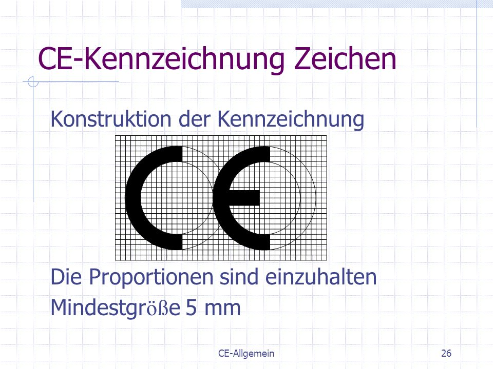 CE-Kennzeichnung Zeichen