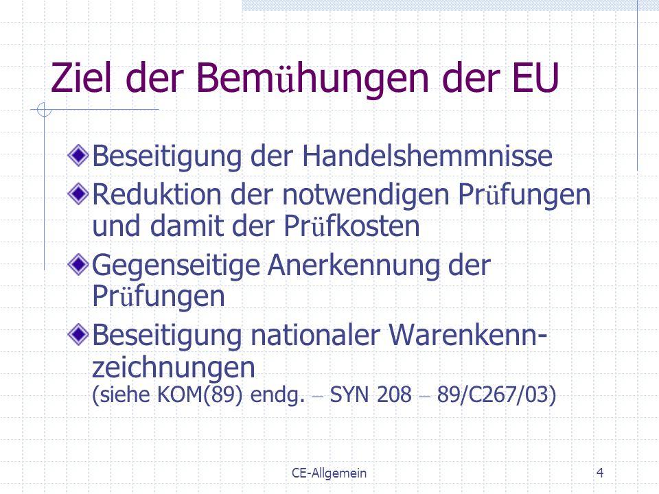 Ziel der Bemühungen der EU