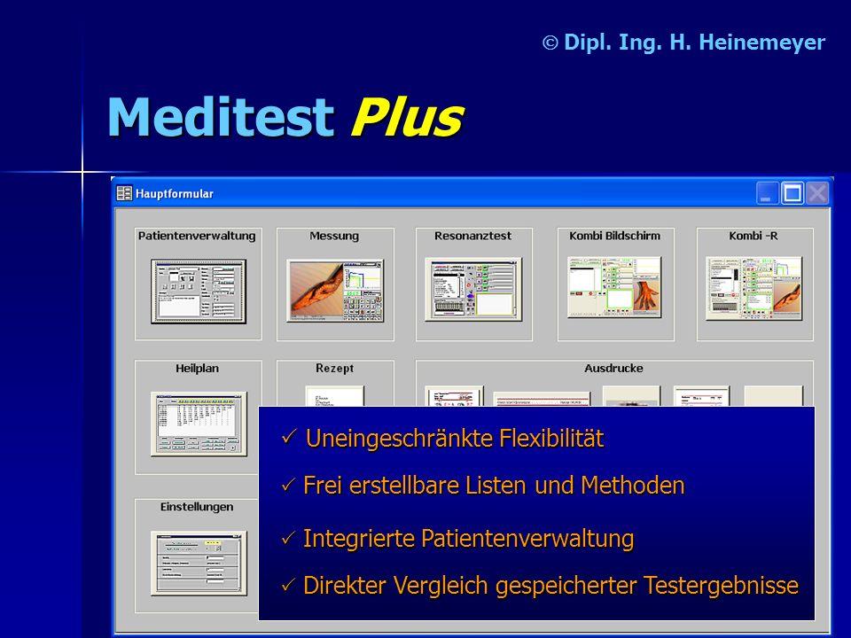 Meditest Plus P Uneingeschränkte Flexibilität Ó