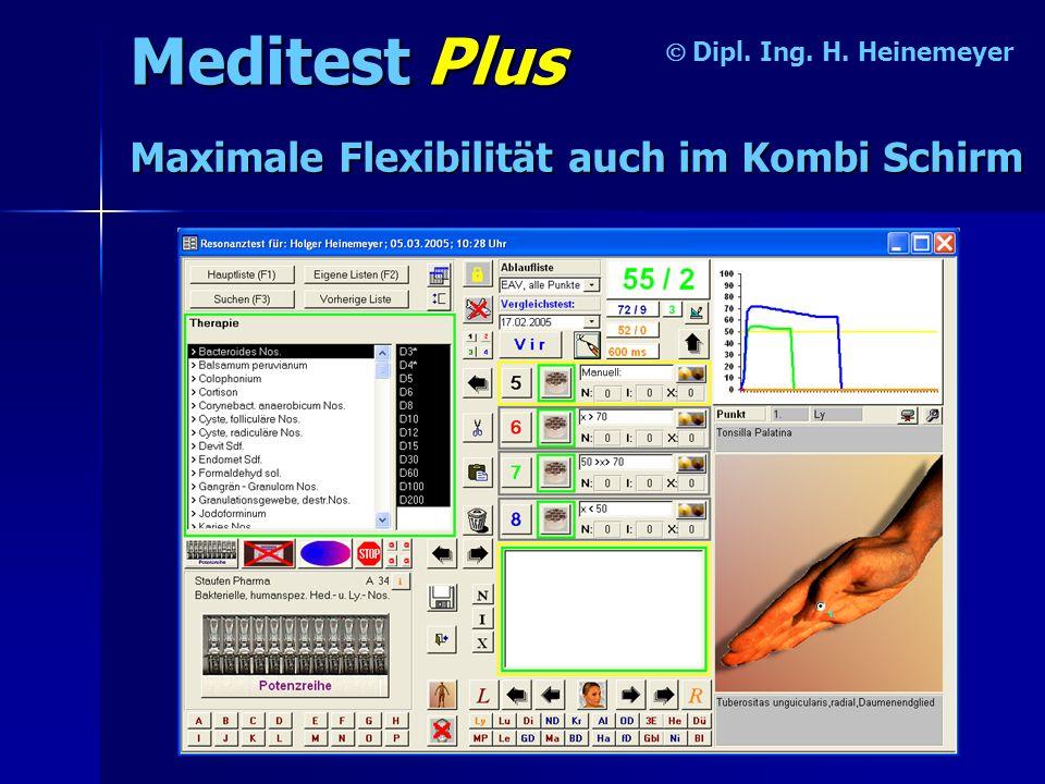 Meditest Plus Maximale Flexibilität auch im Kombi Schirm Ó