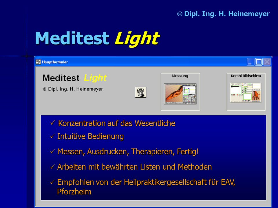 Meditest Light P Konzentration auf das Wesentliche Ó