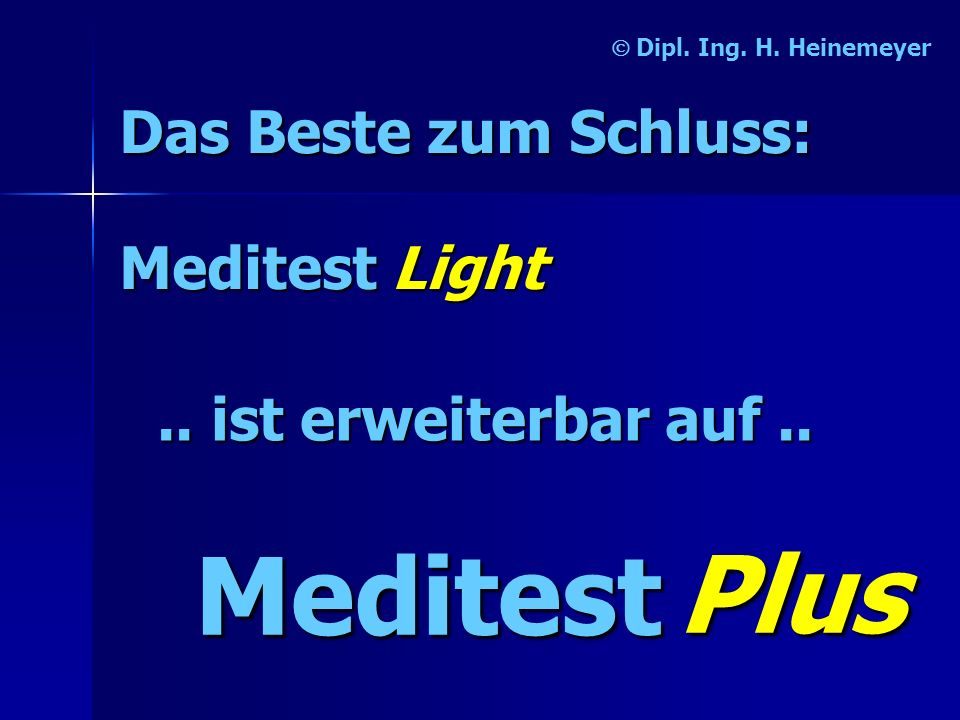 Meditest Plus Das Beste zum Schluss: Meditest Light