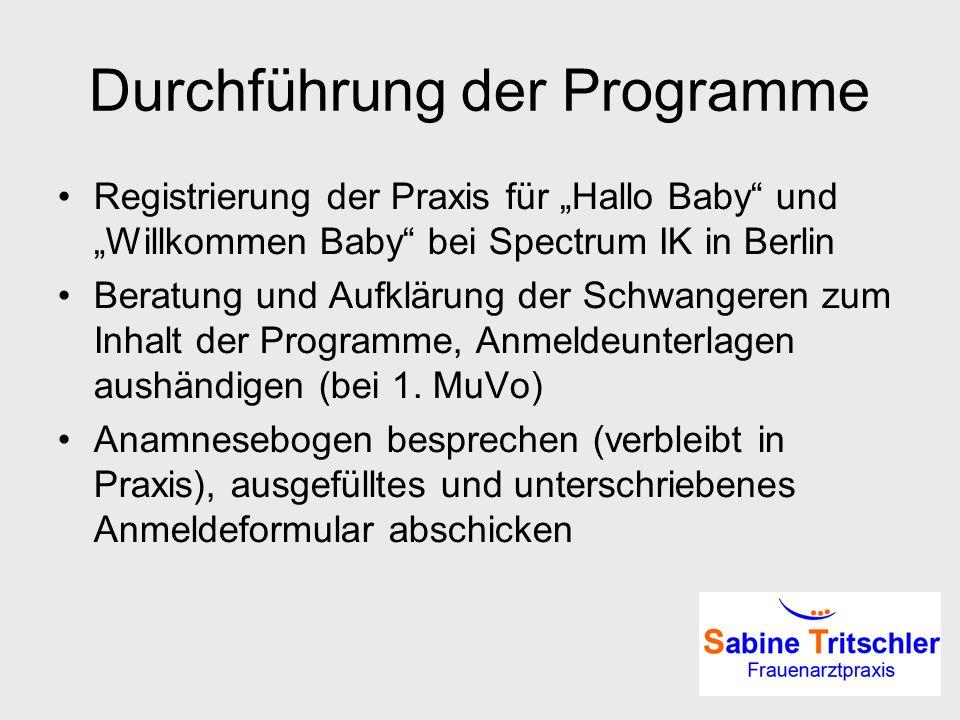Durchführung der Programme