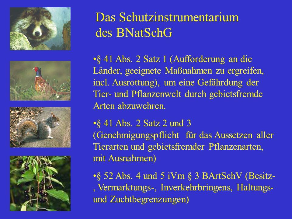 Das Schutzinstrumentarium des BNatSchG