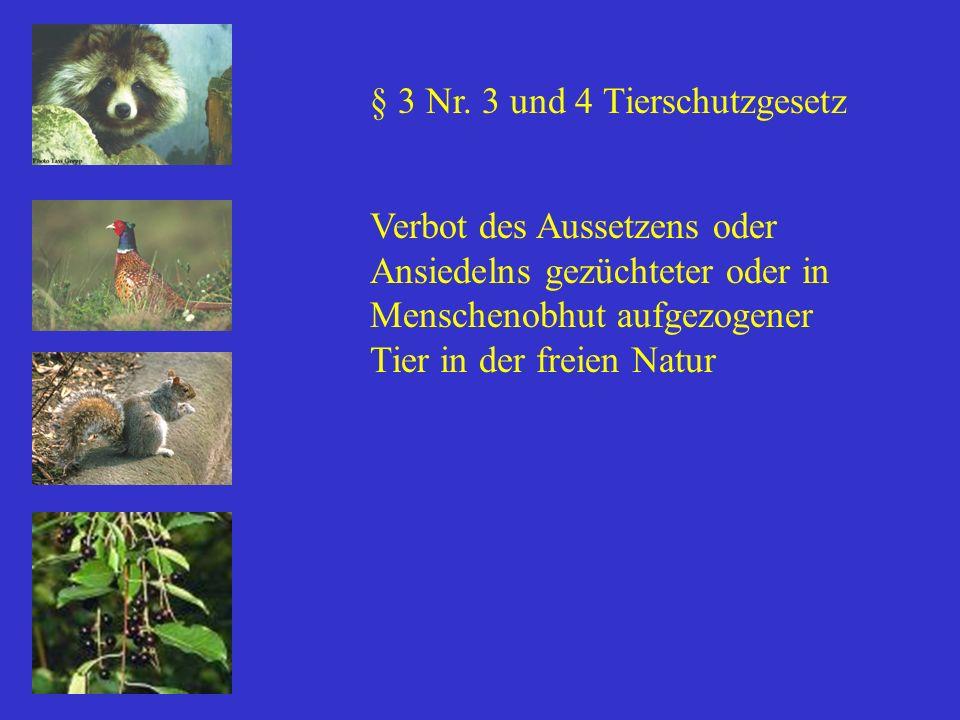 § 3 Nr. 3 und 4 Tierschutzgesetz