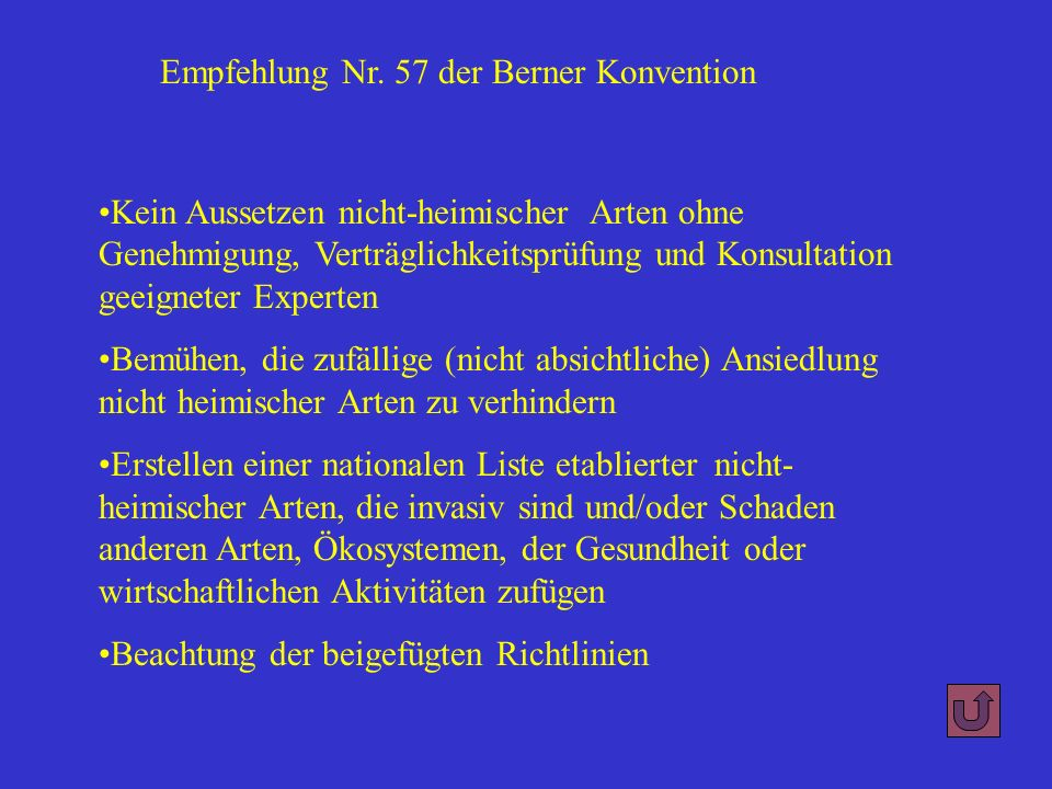 Empfehlung Nr. 57 der Berner Konvention