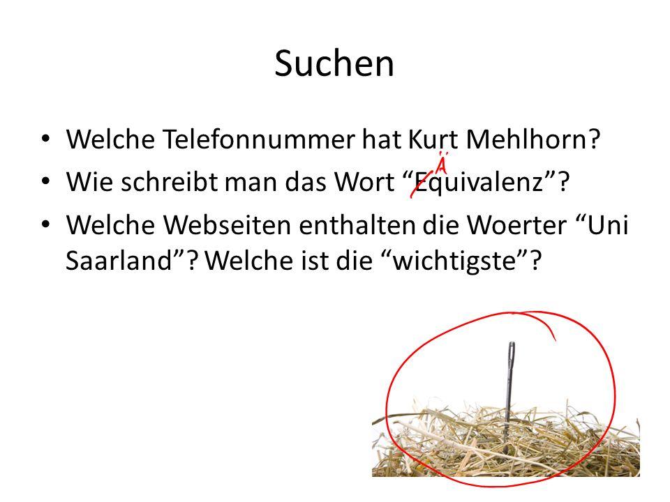 Suchen Welche Telefonnummer hat Kurt Mehlhorn